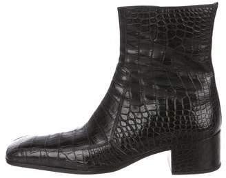 Saint Laurent Crocodile Johnny Boots