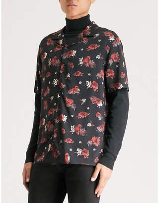 The Kooples Floral-print regular-fit woven Hawaiian shirt