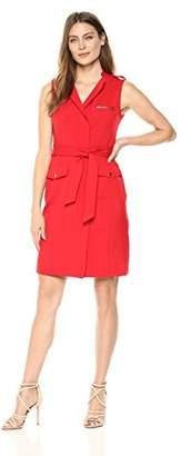 Sharagano Women's Sleeveless Shirt Dress