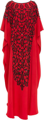 Joanna Mastroianni Reversible Ovals Embroidered Caftan