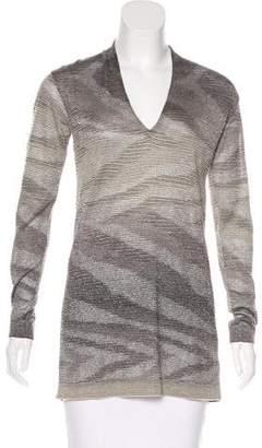 Missoni Metallic-Accented V-Neck Sweater