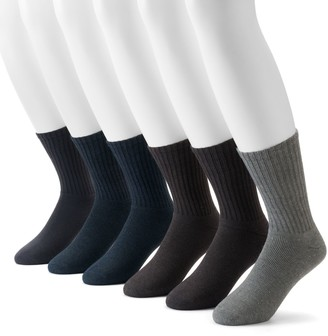 Dockers Men's 6-pack Value Cushioned Crew Socks