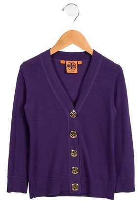 Tory Burch Girls' Wool Button-Up Cardigan
