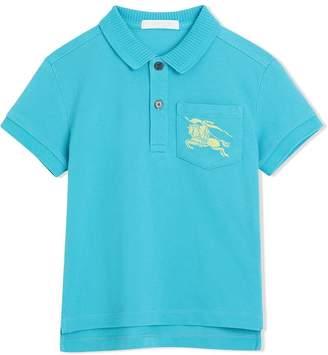Burberry TEEN logo polo shirt