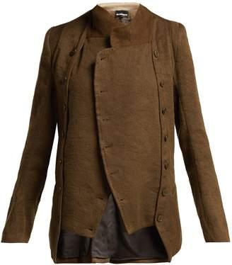 Ann Demeulemeester Cropped linen and wool-blend jacket
