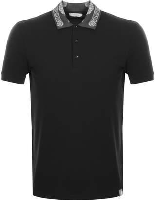 Versace Pique Polo T Shirt Black