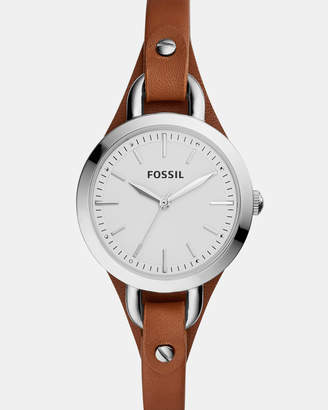 Fossil Classic Minute Dark Brown Analogue Watch