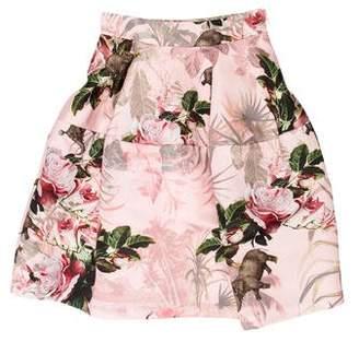 Pinko Floral Print Knee-Length Skirt