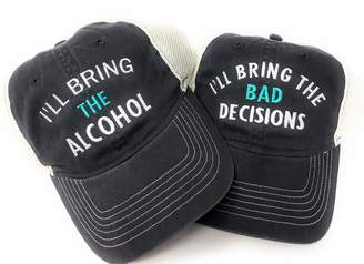 d2953631 Mary's Monograms Set of 2 Custom Embroidered I'll Bring The Alcohol/Bad  Decisions