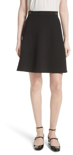 Women's Kate Spade New York Crepe Military Skirt