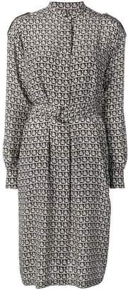Salvatore Ferragamo Gancini print shirt dress