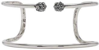 Alexander McQueen Silver Double Wrap Skull Bracelet