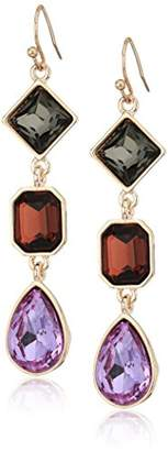 T Tahari HEM MNT LSPH CRY DP FH Drop Earrings