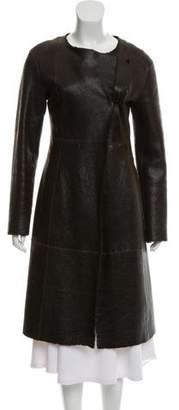 Miu Miu Shearling Long Coat