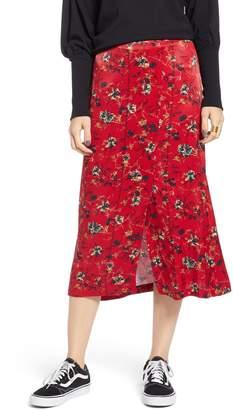 Treasure & Bond Floral Midi Skirt