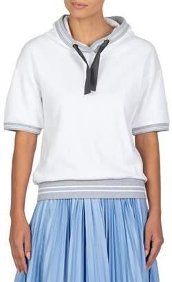 Eleventy Short-Sleeve Cotton Hoodie