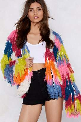 Nasty Gal Paint the Town Shaggy Cardigan