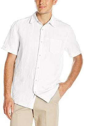 Margaritaville Men's Short Sleeve Cabana Linen Shirt
