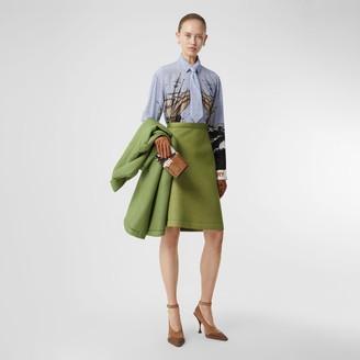 Burberry Double-faced Neoprene Skirt