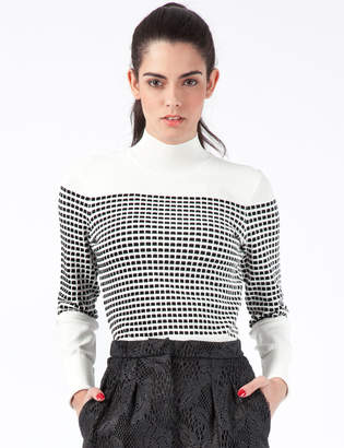 Opening Ceremony White Multi Small Inbox Turtleneck Sweater