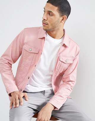 Jack and Jones Originals Pink Denim Jacket