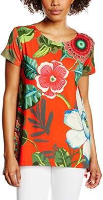 Desigual Women's Emilio Short Sleeve T-Shirt,Size 10 (Manufacturer Size:Small)