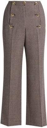 Sonia Rykiel High-waisted flared wool-tweed trousers