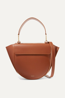 Hortensia Wandler Medium Leather Shoulder Bag - Tan
