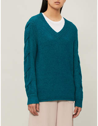 See by Chloe Twisted-knit alpaca-blend jumper