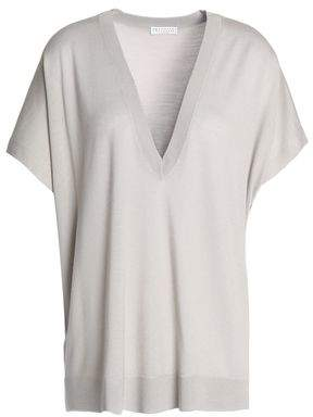 Brunello Cucinelli Knitted Wool And Cashmere-Blend Top