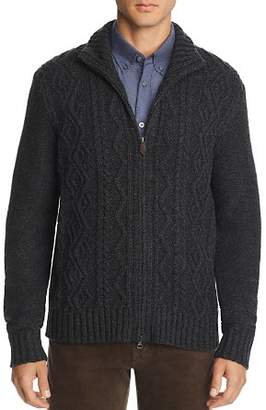 Bloomingdale's The Men's Store at Cable-Knit Zip Sweater -100% Exclusive