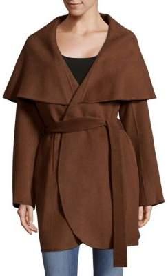 T Tahari Wool Blend Wrap Coat
