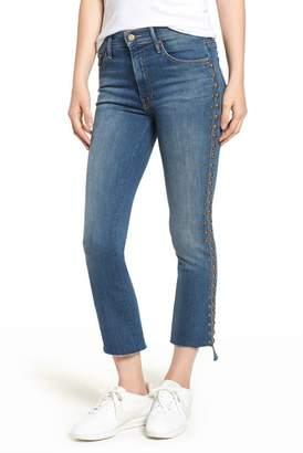 Mother The Insider Frayed Step Hem Crop Jeans (Rough Stud)