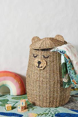 Anthropologie Buddy Bear Kids Storage Basket