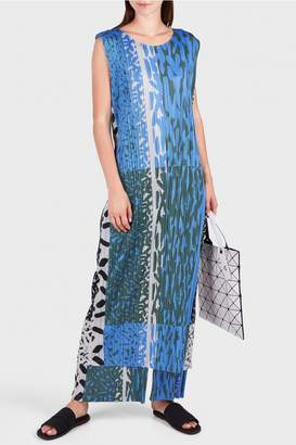 Pleats Please Issey Miyake Flash Long Dress