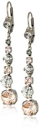 Sorrelli Womens Snow Bunny Dazzling Dotted Line Drop Earrings