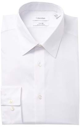 Calvin Klein Solid Stretch Slim Fit Dress Shirt