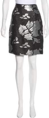 Salvatore Ferragamo Sequined Silk Skirt