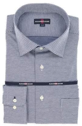 Alexander Julian TAKA-Q 【大きいサイズ】 アレキサンダージュリアン)綿100%ニットワイドカラー長袖ビジネスドレスシャツ