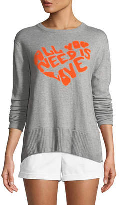 Lisa Todd All You Need is Love w/ Heart Intarsia Sweater, Petite