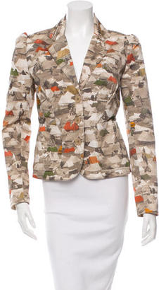 Paul Smith Printed Notched Lapel Blazer $55 thestylecure.com