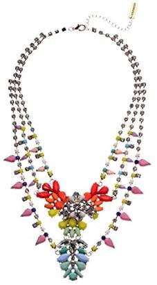 Steve Madden Multi-Layer Floral Bib Necklace