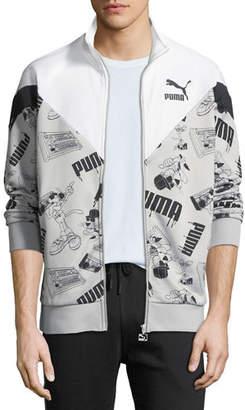 Puma Men's Super Logo Zip-Front Jacket