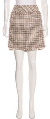 Chanel Cut-Out Tweed Skirt Beige Cut-Out Tweed Skirt