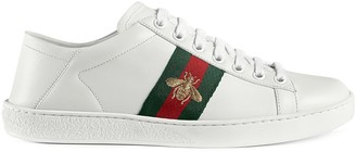 Gucci White Ace leather sneakers