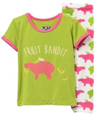 Kickee Pants Printed Short Sleeve Pajama Set (Baby, Toddler, Little Girls, & Big Girls)