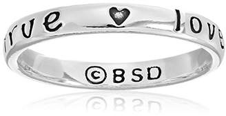 Bob Siemon Sterling True Love Waits Heart Promise Ring