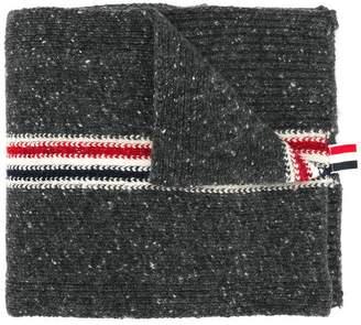 Thom Browne Striped Tweed Jersey Scarf