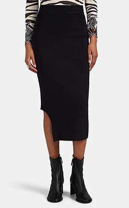 Victoria Beckham Women's Curved-Hem Compact Knit Skirt - Black