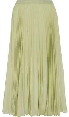 Maison Margiela Pleated Chiffon Midi Skirt
